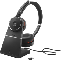JABRA Evolve 75 Stereo MS inkl. Link 370 + Ladestation